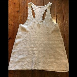 Free People Metalic Thread Top Size Med